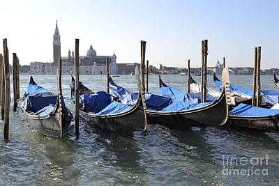 Poster featuring the photograph Venice Gondolas by Rebecca Margraf
