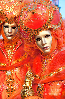 Poster featuring the photograph Venice Masks by Luciano Mortula