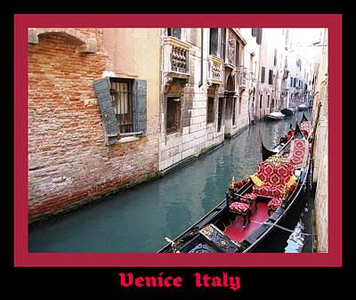 Venitian Gondola   Venice Canal Italy Poster