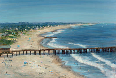 Ventura Pier Summer Time Poster by Tina Obrien
