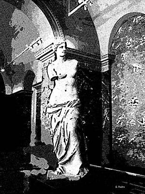 Venus De Milo In Black And White Poster