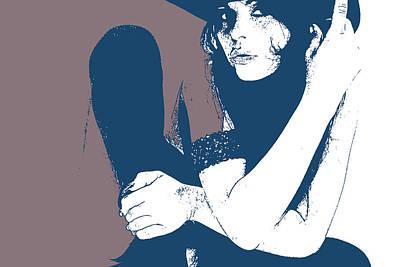 Vera Blue Poster by Naxart Studio