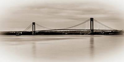 Verrazano-narrows Bridge B-w Poster