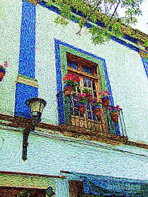 Poster featuring the digital art Vg Guanajuato by John  Kolenberg
