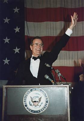 Vice President Bush Addresses The Young Poster by Everett