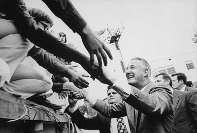 Vice President Spiro Agnew Campaigning Poster by Everett