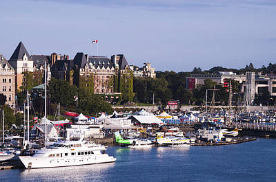 Victoria B.c.'s Inner Harbor Poster by MaryJane Armstrong