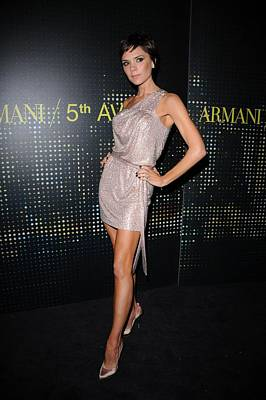 Victoria Beckham Wearing Armani Dress Poster