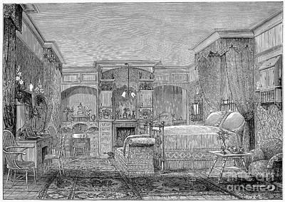 Victorian Bedroom, 1884 Poster