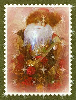 Poster featuring the photograph Victorian Santa by Michelle Frizzell-Thompson