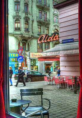 Vienna View From Coffee Shop Window Poster by Juli Scalzi