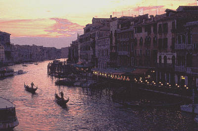 View From The Rialto Venice Poster by Tom Wurl