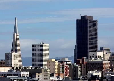 View Of San Francisco Downtown Poster by Luiz Felipe Castro