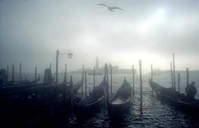View Of San Giorgio Maggiore From The Piazzetta San Marco In Venice Poster by Simon Marsden