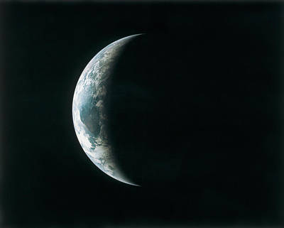 View Of The Earth From Outer Space During An Eclipse Poster by Stockbyte