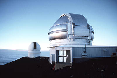 View Of The Gemini Telescope Dome On Mauna Kea Poster by Magrath Photography