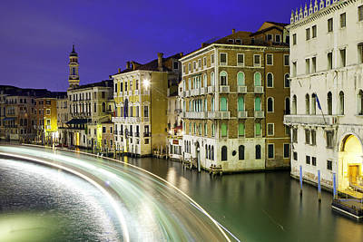 View Of The Grand Canal From Rialto Bridge Poster
