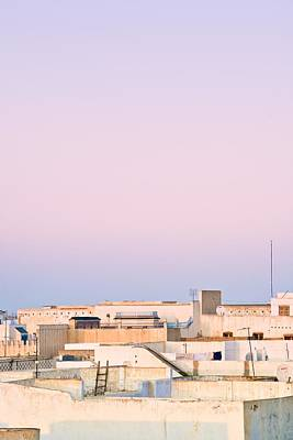 View Over Rooftops Kairouan, Tunisia Poster by David DuChemin