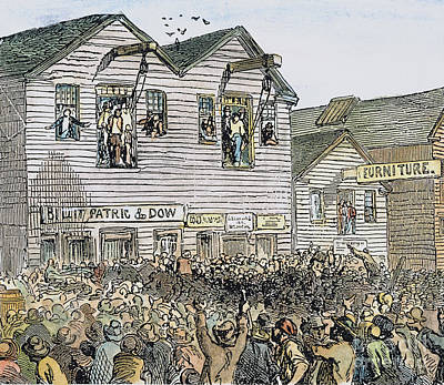 Vigilante Lynching, 1851 Poster by Granger