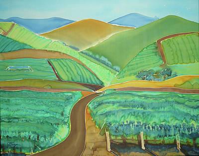 Vigor In The Vineyards Poster by Jill Targer