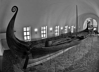 Poster featuring the photograph Vikingship by A A