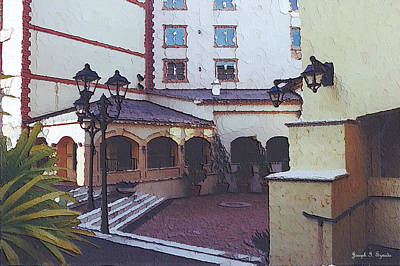 Villa Atrium I Poster by Joseph Szweda