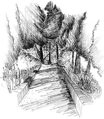 Villa Cimbrone Garden Poster