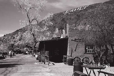 Village Entrance In Calico Ghost Town California Poster by Susanne Van Hulst