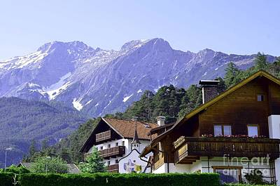 Village In Alps Poster