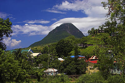 Poster featuring the photograph Village Of Choiseul- St Lucia by Chester Williams