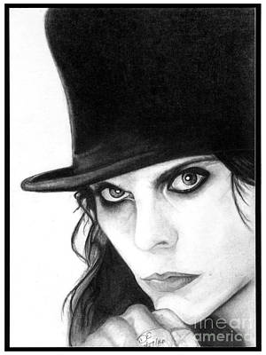 Ville Valo In Tophat Poster by Debbie Engel