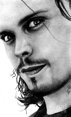 Ville Valo No13 Pencil Drawing Poster by Debbie Engel