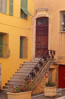 Villefranche France Steps Poster
