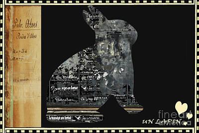 Vintage Bunny Licensing Art Poster