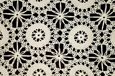 Vintage Crocheted Doily Poster by Carolyn Marshall
