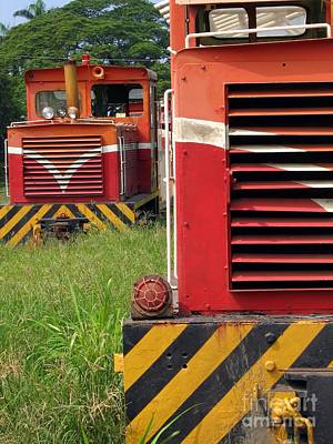 Vintage Diesel Engines Poster by Yali Shi