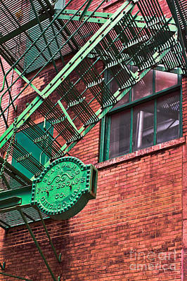 Poster featuring the photograph Vintage Fire Escape by Lawrence Burry