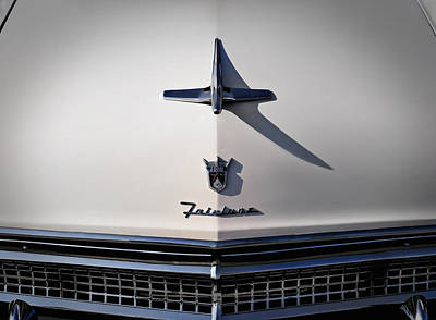 Vintage Ford Fairlane Hood Ornament Poster by Douglas Pittman