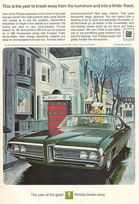 Vintage Gm Pontiac Poster