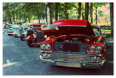 Vintage In A Row Poster by Cathie Tyler