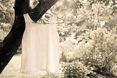 Poster featuring the photograph Vintage Linen Cami by Brooke T Ryan
