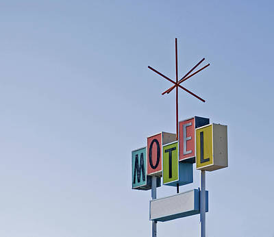 Vintage Motel Sign Poster by Loree Johnson