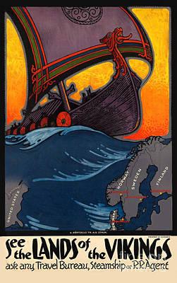 Vintage Norway Travel Poster Poster