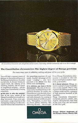 Vintage Omega Watch Poster