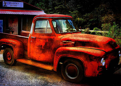 Vintage Pickup Truck Poster by Trudy Wilkerson