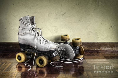 Vintage Roller Skates  Poster by Carlos Caetano