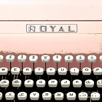 Vintage Royal Typewriter Poster by Glennis Siverson