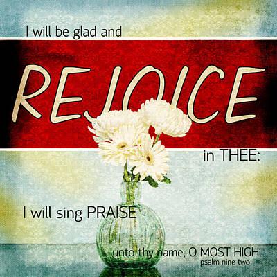 Vintage Tin - Rejoice Poster