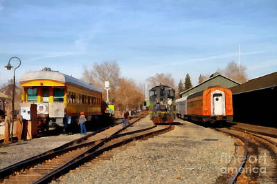 Vintage Trains At The Old Sacramento Train Depot . 7d11513 Poster