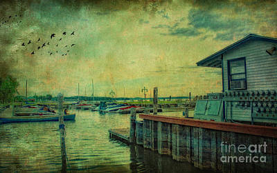 Poster featuring the photograph Vintage Vermont Harbor by Gina Cormier